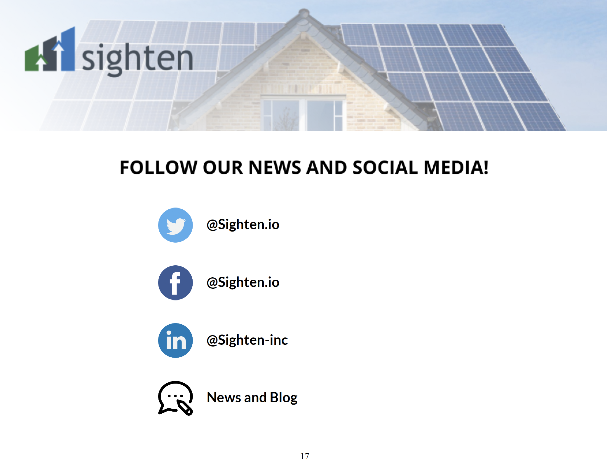 Custom Solar New and Social Page
